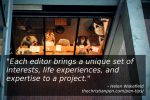 The Editor: More than a Punctuation and Grammar Expert