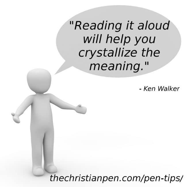 Reading Copy Out Loud Refines It