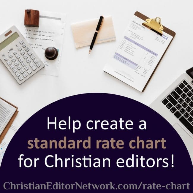 Introducing the Christian Editing Standard Rate Chart
