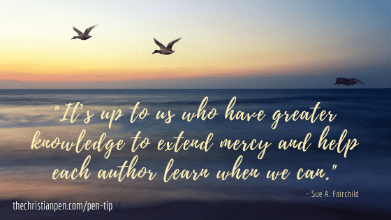 Editors Need To Extend Grace and Mercy