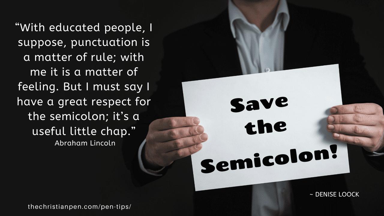 Save the Semicolon