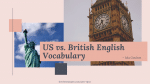 US vs. British English Vocabulary