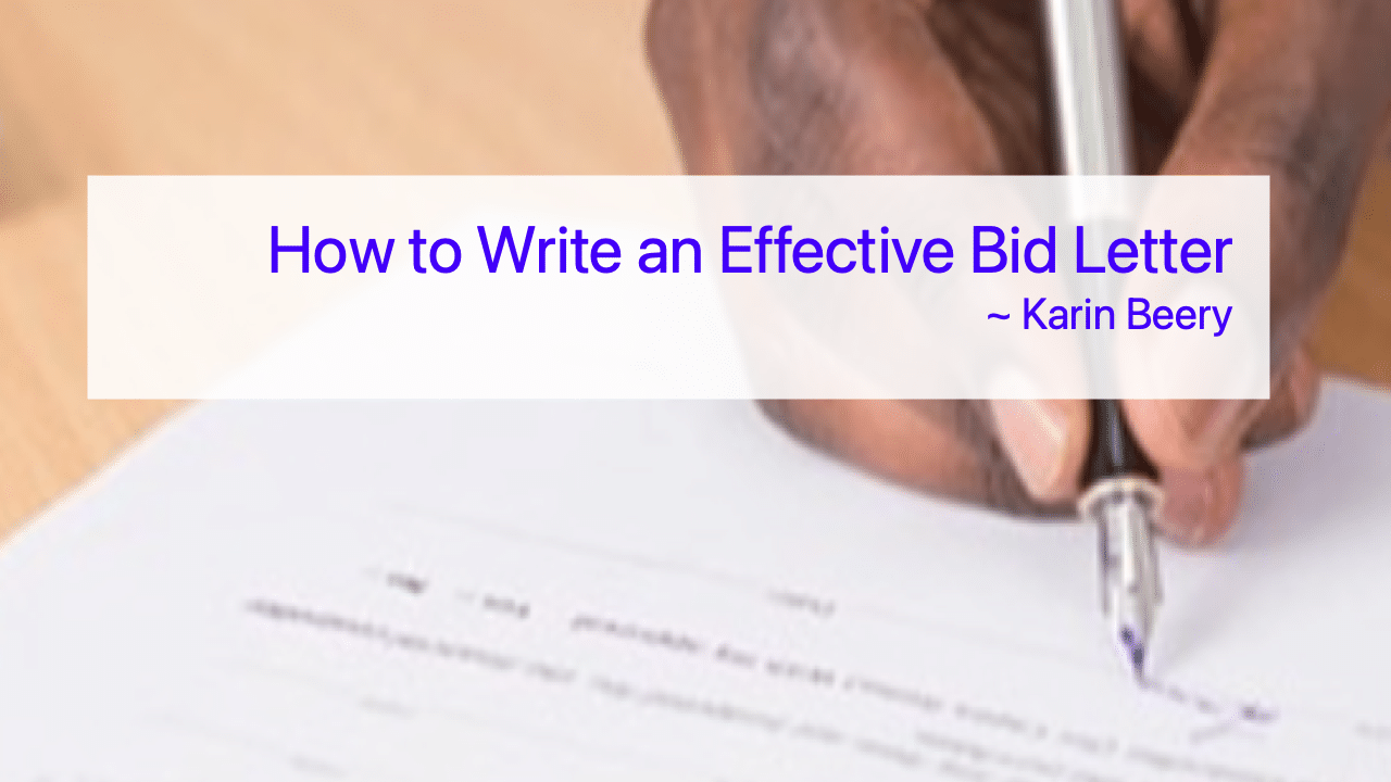 How to Write an Effective Bid Letter